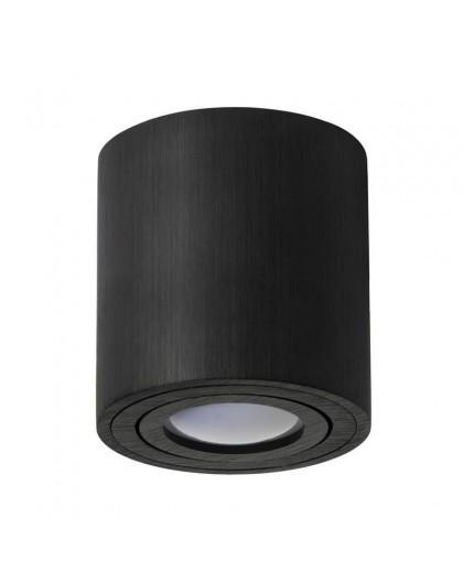 Oprawa natynkowa Spot Lampa sufitowa Okrągła Czarna 115 mm