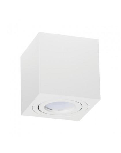 Oprawa natynkowa Spot Lampa sufitowa Kwadratowa Biała 84 mm
