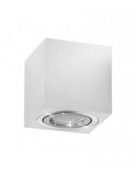 Oprawa natynkowa Spot Lampa sufitowa Kwadratowa Srebrna Chrome 84 mm