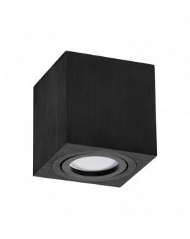 Oprawa natynkowa Spot Lampa sufitowa Kwadratowa Czarna 84 mm