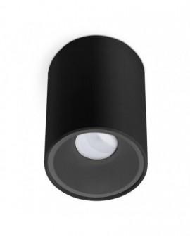 Lampa sufitowa natynkowa Spot Czarny 1x GU10 Kivi 140 mm