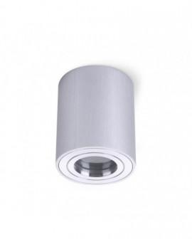 Zewnętrzna Lampa sufitowa Spot Oprawa natynkowa Okrągła Srebrna Chrom IP44