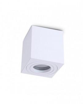 Zewnętrzna Lampa sufitowa Spot Oprawa natynkowa Kwadratowa Biała IP44