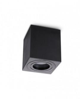Zewnętrzna Lampa sufitowa Spot Oprawa natynkowa Kwadratowa Czarna IP44