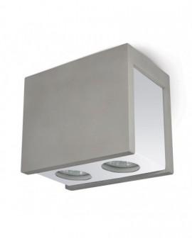 Cementowa Oprawa natynkowa podwójna Spot Lampa sufitowa Szara Lindo 2x GU10