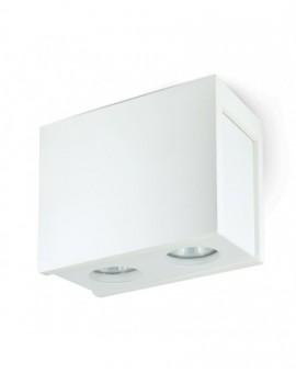 Gipsowa Oprawa natynkowa podwójna Spot Lampa sufitowa Biała Lindo 2x GU10