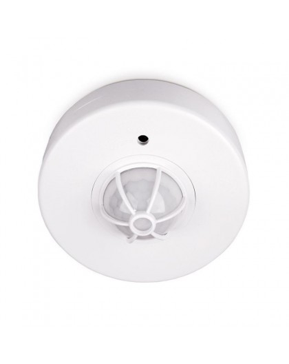Biały Czujnik ruchu 360 stopni 12m LX06