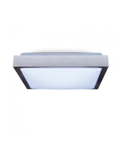 Kwadratowy Plafon Lampa sufitowa 2x E27 Aluminium Samira 41x41