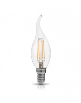 Żarówka LED Dekoracyjna Filament E14 4W 3000K Biała Ciepła