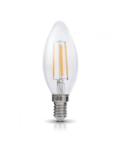 Żarówka LED Filament Świeczka E14 4W 3000K Biała Ciepła
