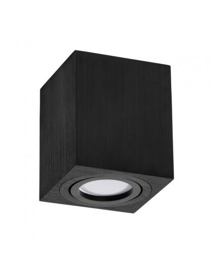 Oprawa natynkowa Spot Lampa sufitowa Kwadratowa Czarna 115 mm