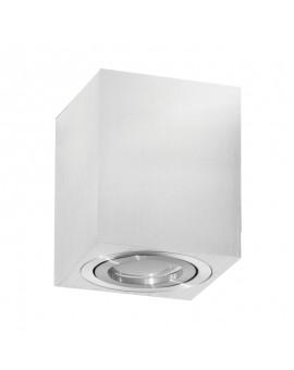 Oprawa natynkowa Spot Lampa sufitowa Kwadratowa Srebrna Chrom 115 mm