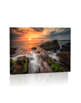 Rocky coast at sunset DESIGN Lamp backlit