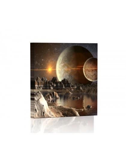 Obca planeta Obraz podświetlany LED