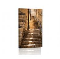 Zabytkowe schody Obraz podświetlany LED