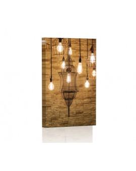 Lampy Vintage Obraz podświetlany LED