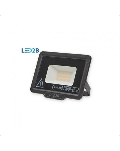 Naświetlacz LED MH 10W Czarny Biała zimna 6000K