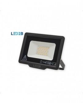 Naświetlacz LED MH 20W Czarny Biała zimna 6000K