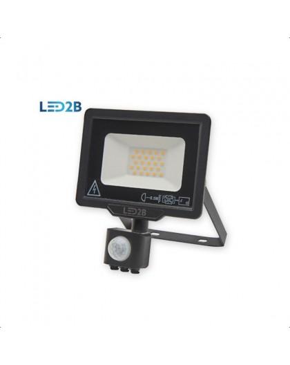 Naświetlacz LED MHC z czujnikiem ruchu 20W Czarny Biała ciepła 3000K