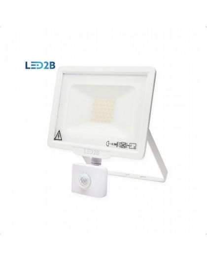 Naświetlacz LED MHC z czujnikiem ruchu 30W Biały Biała ciepła 3000K