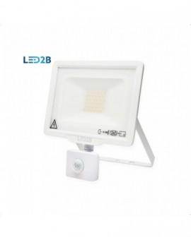 Naświetlacz LED MHC z czujnikiem ruchu 30W Biały Biała zimna 6000K