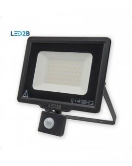 Naświetlacz LED MHC z czujnikiem ruchu 50W Czarny Biała ciepła 3000K