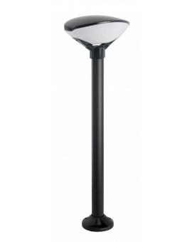 Czarno-biała stojąca lampa ogrodowa Teo 119 cm