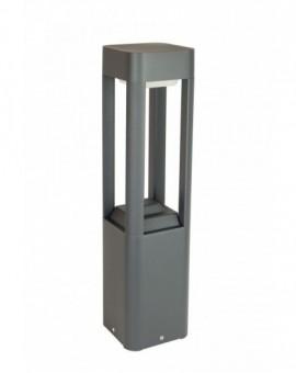 Nowoczesna lampa stojąca ogrodowa Fan Kwadrat słupek do ogrodu 50 cm