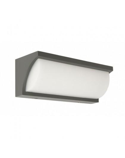 Elegancka zewnętrzna lampa ścienna LED kinkiet Mona mleczny klosz