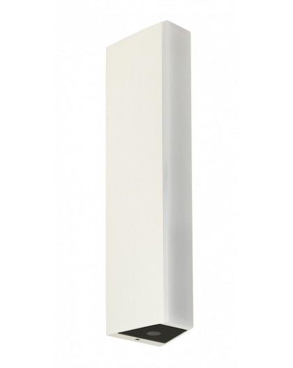 Elegancka potrójna zewnętrzna lampa ścienna biała Tin LED góra-dół-przód