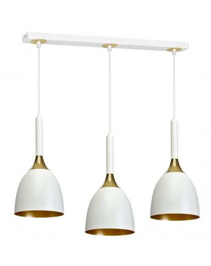 Lampa wisząca CLARK WHITE/GOLD 3xE27