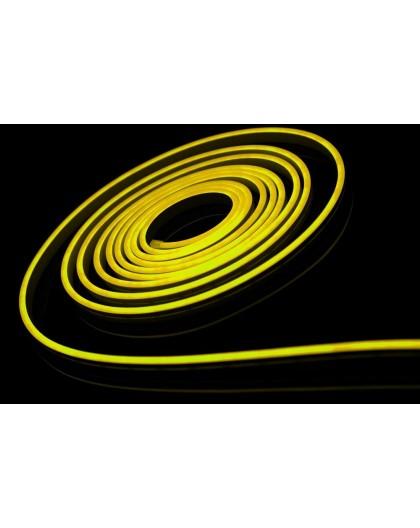 Neon LED 6x12 sekcja 1 cm półokrągły silikonowy 12V Cytrynowy
