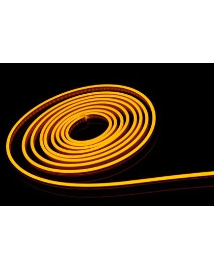Neon LED 6x12 sekcja 1 cm półokrągły silikonowy 12V Żółty