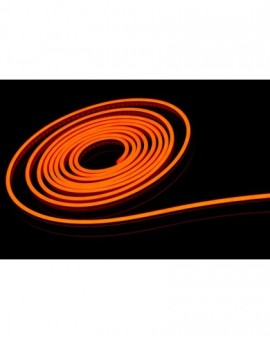 Neon LED PCV 6x12 sekcja 2,5cm 12V Pomarańczowy