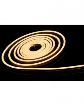 Neon LED Silikonowy 8x16 sekcja 2,5cm 12V Biały Ciepły