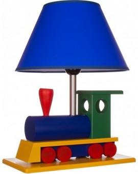 Drewniana Lampa Dziecięca Lokomotywa Kolorowa