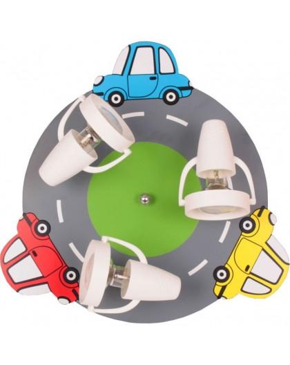 Kolorowa lampa sufitowa Samochody dziecięcy plafon