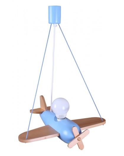 Drewniana Wisząca Lampa Samolot Clipper Dziecięca