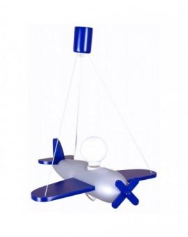 Dzięcięca lampa wisząca Samolot niebieski Clipper