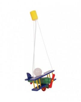 Kolorowa Lampa Dziecięca Sufitowa wisząca Samolot