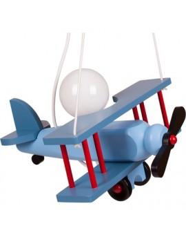 Solidna Niebieska Lampa Wisząca Dziecięca Samolot