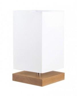 Stołowa Lampa drewniana Square Prostokątna Biała