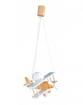 Drewniana Lampa Wisząca Samolot Dziecięca