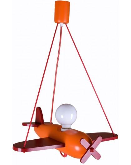 Czerwono-pomarańczowa Lampa Dziecięca Samolot