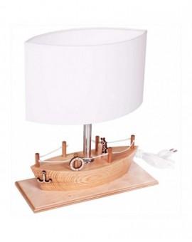 Drewniana lampa na stolik Statek lampa stojąca