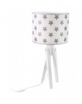 Biała stojąca lampa biurkowa Gwiazki na stolik