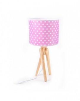 Rożowa Lampa Stołowa Trójnóg Dziecięca na stolik