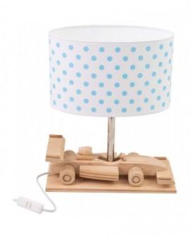 Drewniana lampa na biurko Auto Wyścigówka Klosz