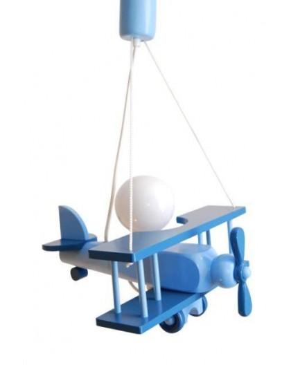 Solidna Lampa do Pokoju Dziecka Samolot Niebieska