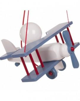 Solidna lampa wisząca do pokoju dziecka Samolot